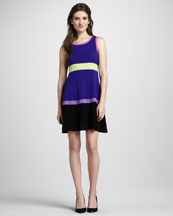 Autumn Cashmere Colorblock Cashmere Dress