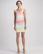Alice + Olivia Molly Ruched Ombre Dress