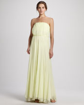 Alice + Olivia Chase Strapless Silk Maxi Dress