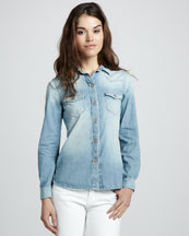 7 For All Mankind Vintage Denim Shirt