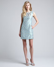 Diane von Furstenberg Akoni Metallic Jacquard Dress