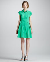 Nanette Lepore Flawless Pleated Shirtdress, Clover