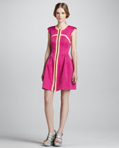 Nanette Lepore Rocking Out Scuba Zip Dress