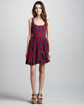 MARC by Marc Jacobs Sam Layered-Skirt Printed Dress
