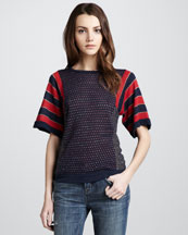MARC by Marc Jacobs Click-Clack Mix-Pattern Sweater