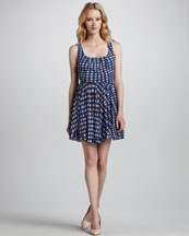 MARC by Marc Jacobs Molly Check-Print Jersey Dress