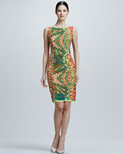 Elie Tahari Claudia Printed Dress
