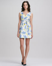 Diane von Furstenberg Carol Faux-Wrap Mini Dress