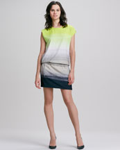 Diane von Furstenberg Tara Drop-Waist Ombre Dress