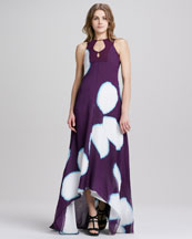 Diane von Furstenberg Starr Sleeveless High-Low Print Dress