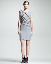 HELMUT Helmut Lang Flash Twisted Drape Dress