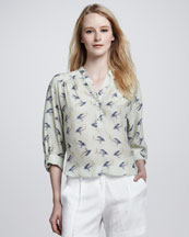 Milly Pelican Camila Printed Top
