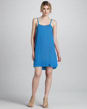 Alice + Olivia Cammie Layered-Hem Dress