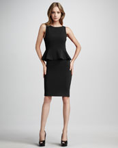 Alice + Olivia Tracey Peplum Dress, Black