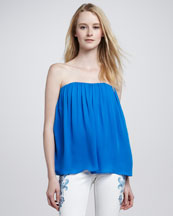 Alice + Olivia Scarlett Gathered Strapless Top