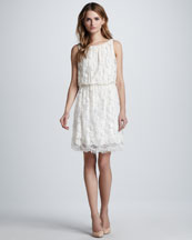 Alice + Olivia Denise Sleeveless Lace Dress