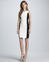 Halston Heritage Sleeveless Ponte Knit Dress