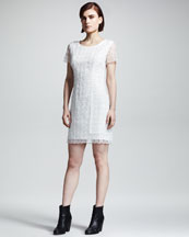 Rag & Bone Cherie Check-Texture Dress
