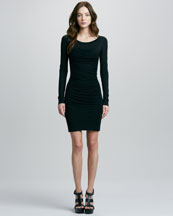 Diane von Furstenberg Lerosa Ruched Straight-Side Jersey Dress