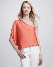 Alice + Olivia Keri One-Shoulder Top