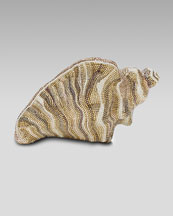 Judith Leiber Pave Conch Shell Clutch