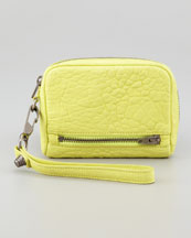 Alexander Wang Fumo Zip-Around Wristlet, Acid