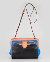 Jason Wu Daphne Colorblock Crossbody Bag, Black/Blue