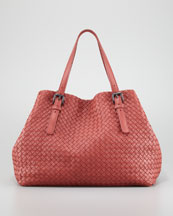 Bottega Veneta Veneta A-Shape Large Tote Bag, Coral
