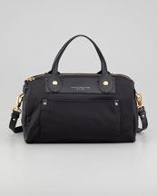 MARC by Marc Jacobs Preppy Nylon Taryn Satchel, Black