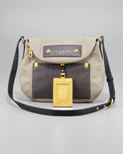 MARC by Marc Jacobs Classic Q Natasha Colorblock Crossbody Bag, Silver Fox