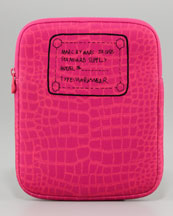 MARC by Marc Jacobs Trompe l'Oeil Croc-Print Tablet Sleeve, Sparkling Grape