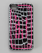 MARC by Marc Jacobs Trompe Croc-Print iPhone 4 Case, Black