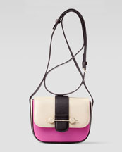 Jason Wu Daphne Mini Colorblock Crossbody Bag, Beige/Magenta