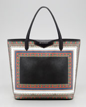 Givenchy Antigona Scarf-Print Medium Shopper Tote Bag