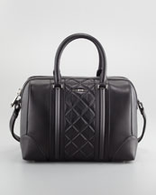 Givenchy Lucrezia Quilted Medium Satchel Bag, Black