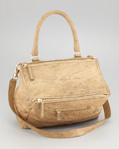 Givenchy Pandora Medium Satchel Bag, Bronze