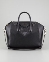 Givenchy Antigona 3D Stud Medium Satchel Bag, Black