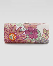 Judith Leiber Honey I'm Home Floral-Pattern Cylinder Clutch Bag