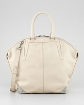Alexander Wang Emile Small Satchel Bag, Beige