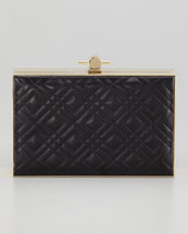 Jason Wu Karlie Quilted Book Box Clutch Bag, Black