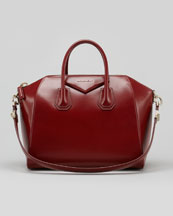 Givenchy Antigona Medium Box Satchel Bag, Burgundy