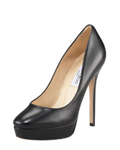 Jimmy Choo Cosmic Leather Platform Pump