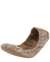 Tory Burch Eddie Watersnake Ballet Flat, Clay