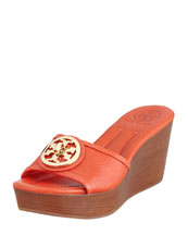 Tory Burch Selma Logo Wedge Slide