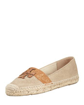 Tory Burch Weston Flat Espadrille, Metallic/Tan