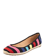 kate spade new york vivi striped espadrille flat