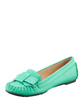 kate spade new york willie tumbled leather loafer, emerald green