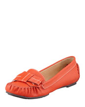 kate spade new york willie tumbled leather loafer, orange