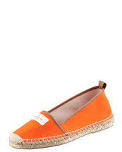 kate spade new york lara logo espadrille flat, orange