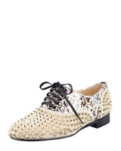 Christian Louboutin Freddy Studded Flat Oxford